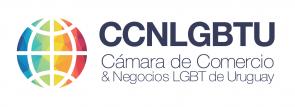 Logotipo Cámara LGBT Uruguay horizontal fondo blanco